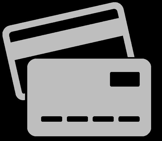 Cartes de crédit non acceptées